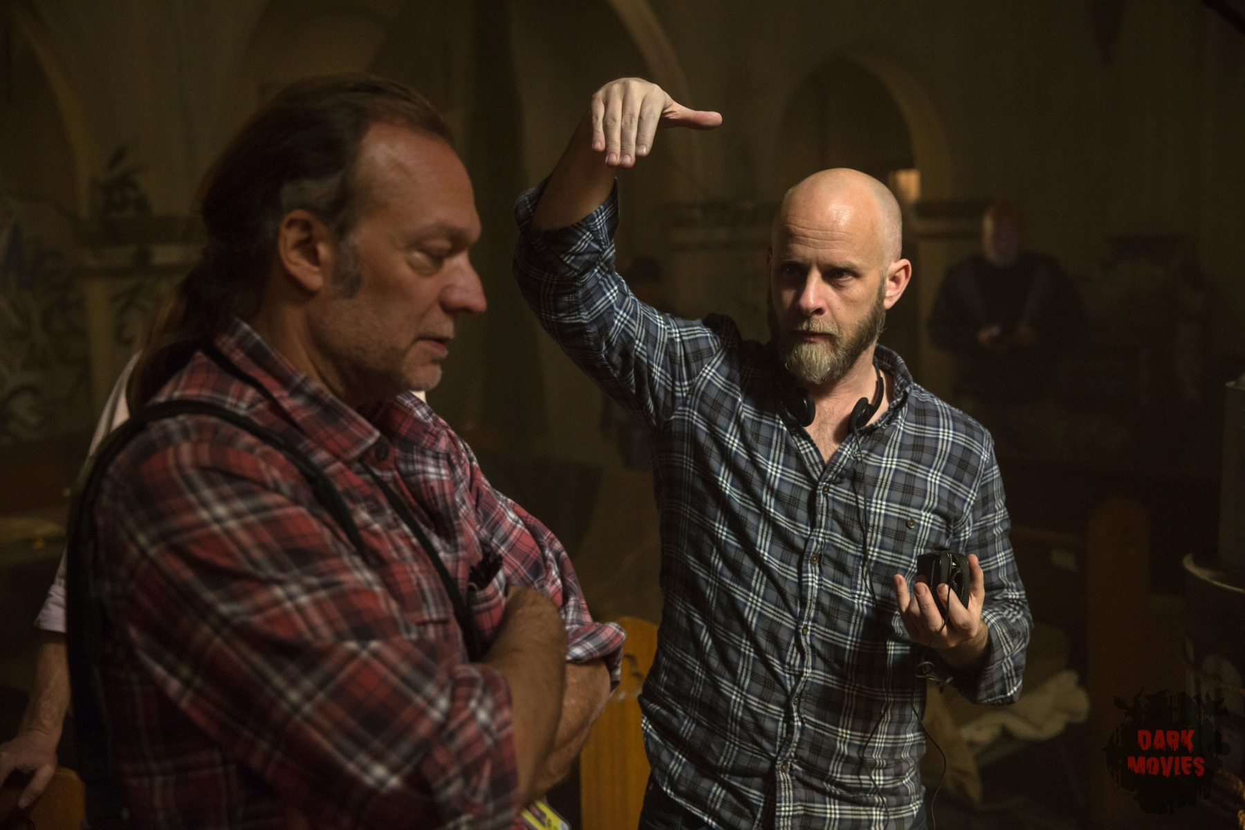 Executive Producer Greg Nicotero and Executive Producer/Showrunner Dave Erickson - Fear the Walking Dead _ Season 1, Episode 1 - Photo Credit: Justin Lubin/AMC