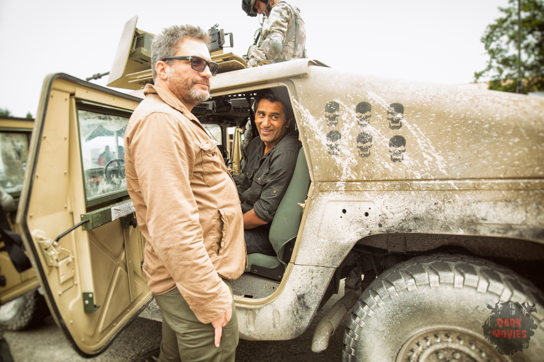 Co-Executive Producer Adam Davidson and Cliff Curtis as Travis - Fear The Walking Dead _ Season 1, Episode 5 - Photo Credit: Justina Mintz/AMC