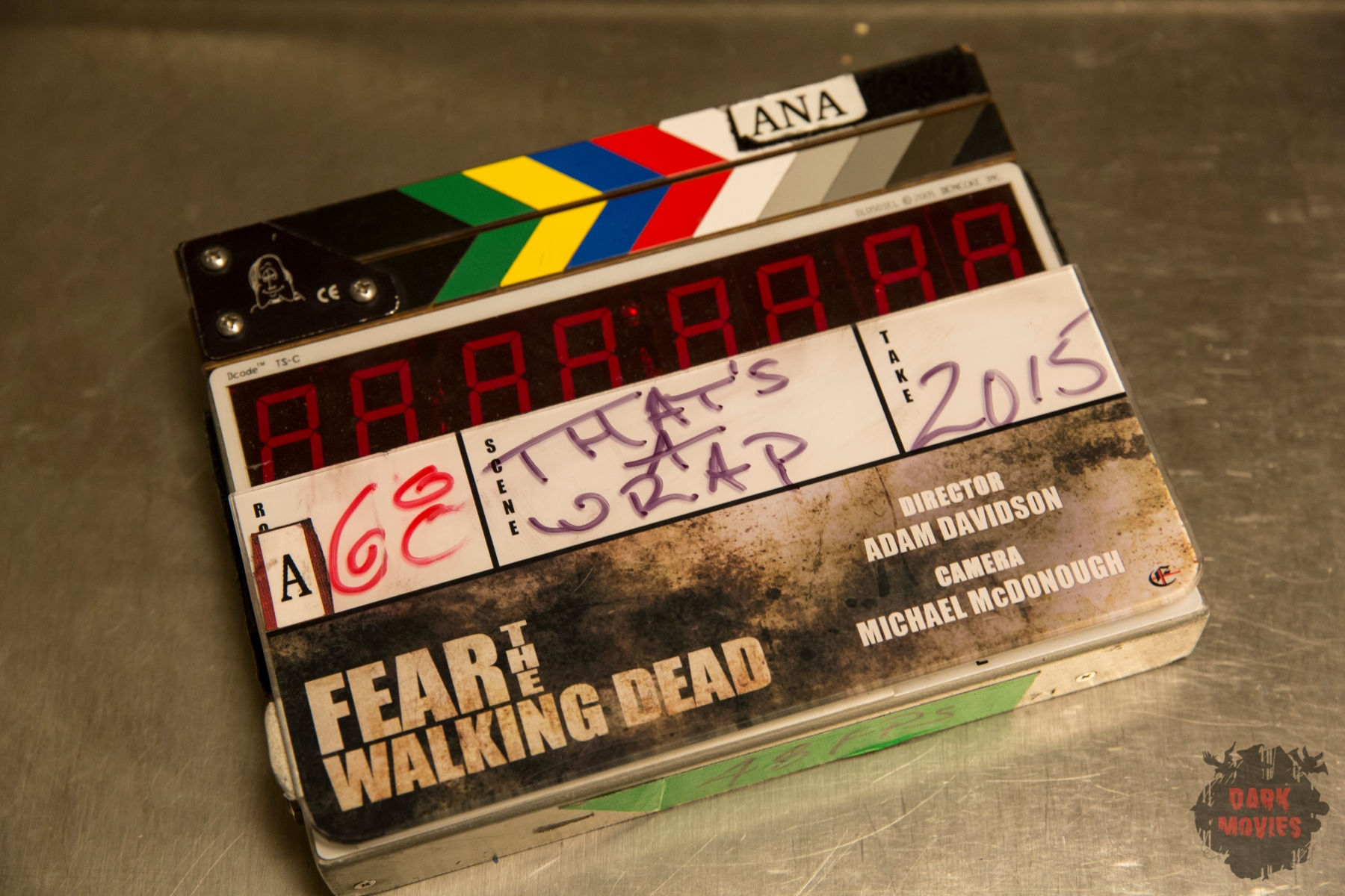 Fear the Walking Dead Clap board - Fear the Walking Dead _ Season 1, Episode 1 - Photo Credit: Justin Lubin/AMC