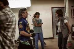 Executive Producer Gale Anne Hurdand Elizabeth Rodriguez as Liza - Fear The Walking Dead _ Season 1, Episode 5 - Photo Credit: Justina Mintz/AMC