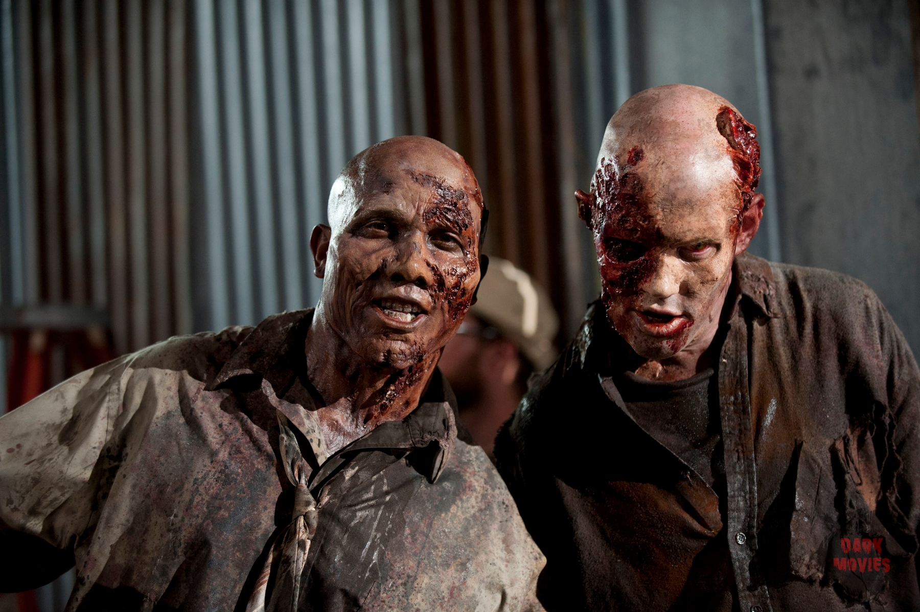 Former Steelers receiver Hines Ward spends a day on the set of AMC's The Walking Dead as a zombie. - Walker (Hines Ward) - The Walking Dead - Season 3, Episode 9 - Photo Credit: Gene Page/AMC