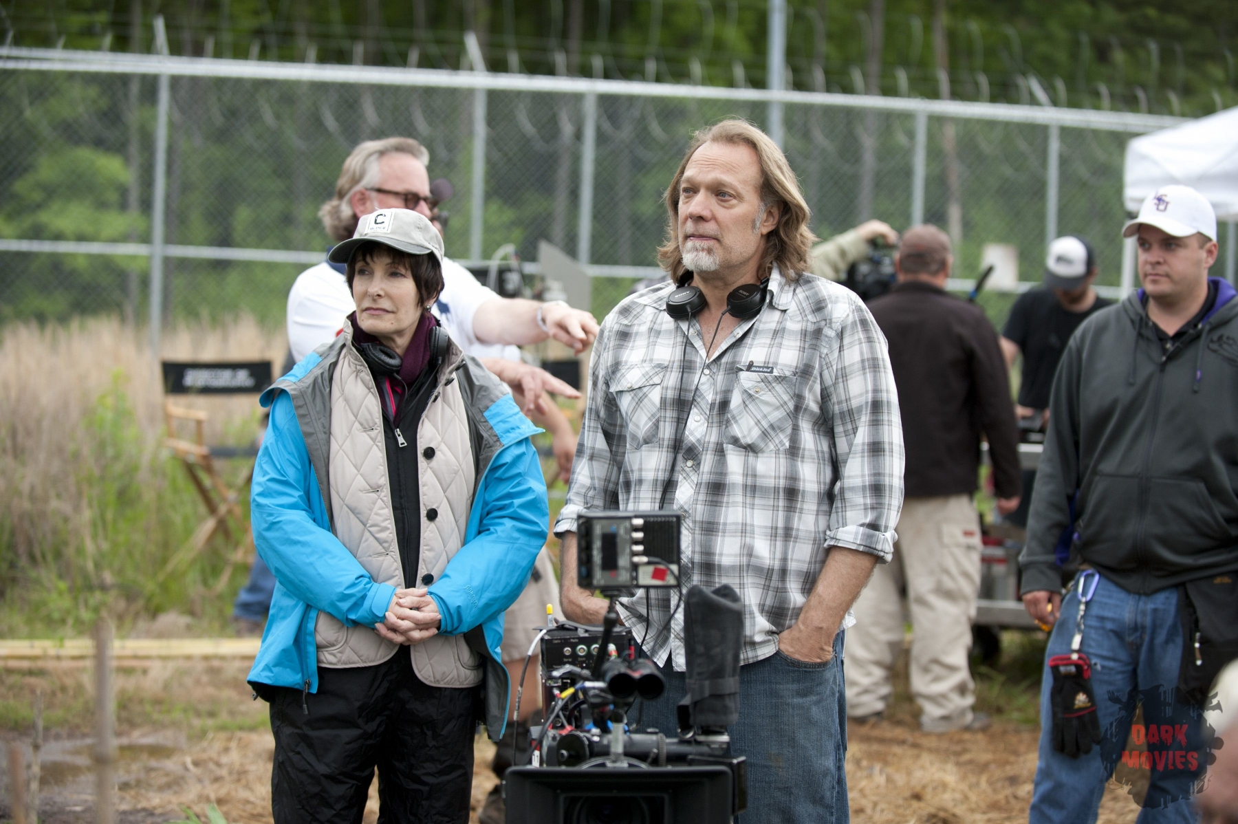 Gale Anne Hurd (Executive Producer), CoExecutive Producer/SFX Makeup Supervisor Greg Nicotero - The Walking Dead _ Season 4, Episode 1 _ BTS - Photo Credit: Gene Page/AMC