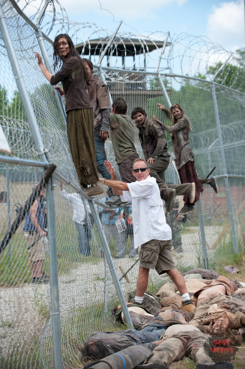 Walkers and Stunt Coordinator Russell Towery - The Walking Dead _ Season 4, Episode 2 _ BTS - Photo Credit: Gene Page/AMC
