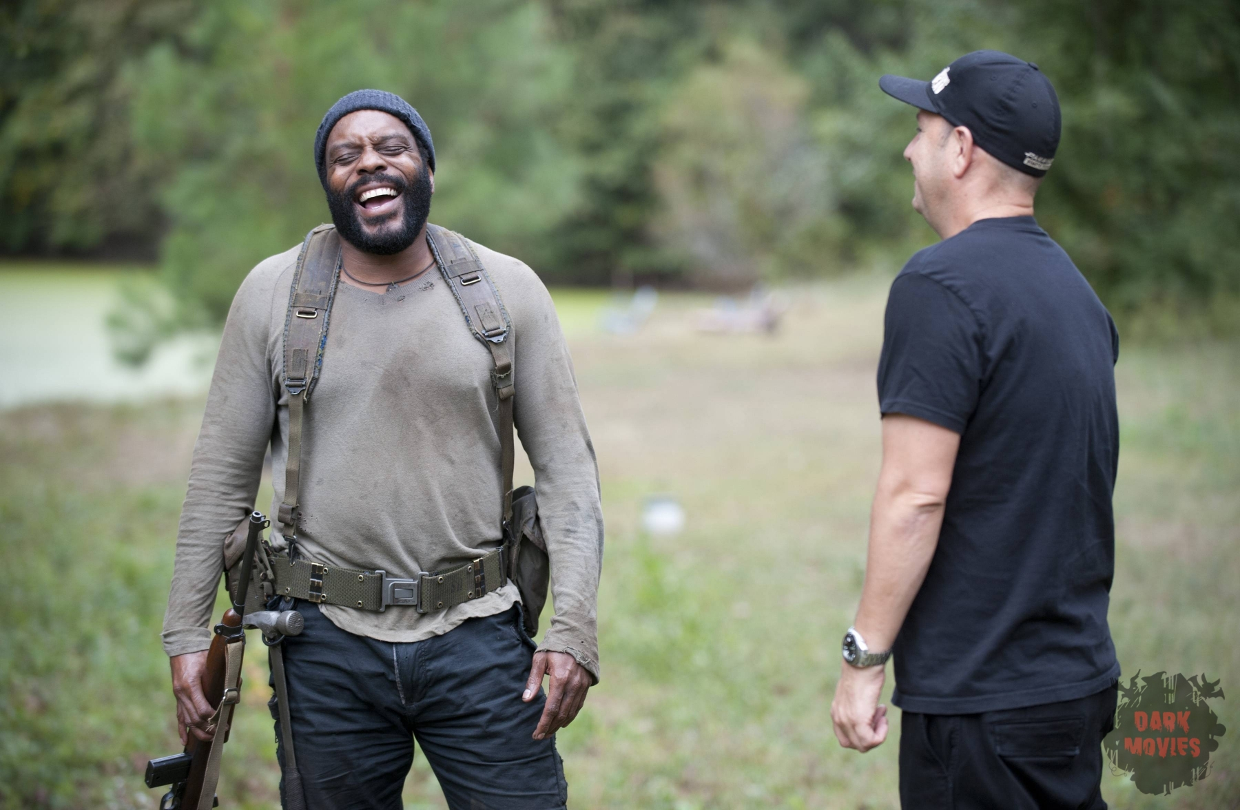 Chad Coleman - The Walking Dead _ Season 4, Episode 14 _ BTS - Photo Credit: Gene Page/AMC