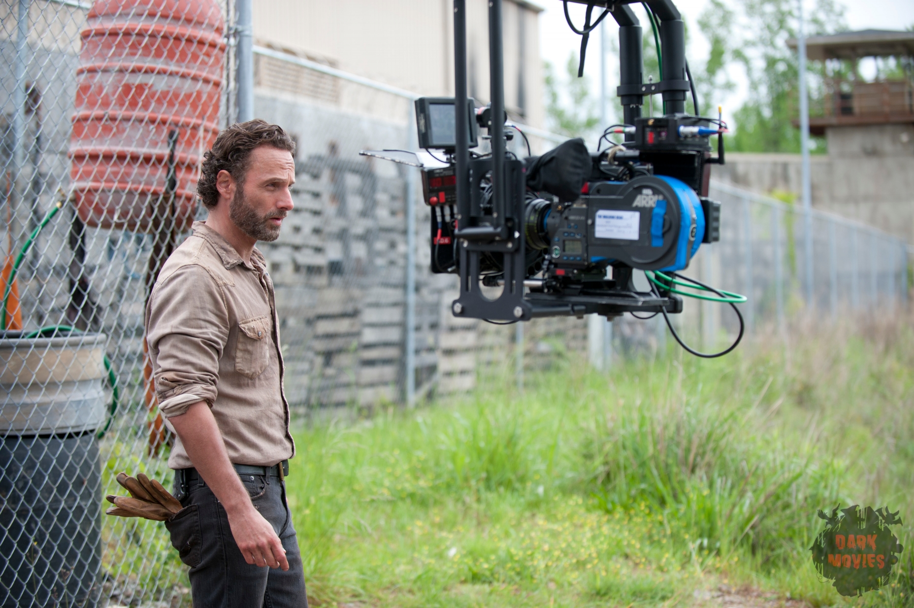 Rick Grimes (Andrew Lincoln) - The Walking Dead _ Season 4, Episode 1 _ BTS - Photo Credit: Gene Page/AMC