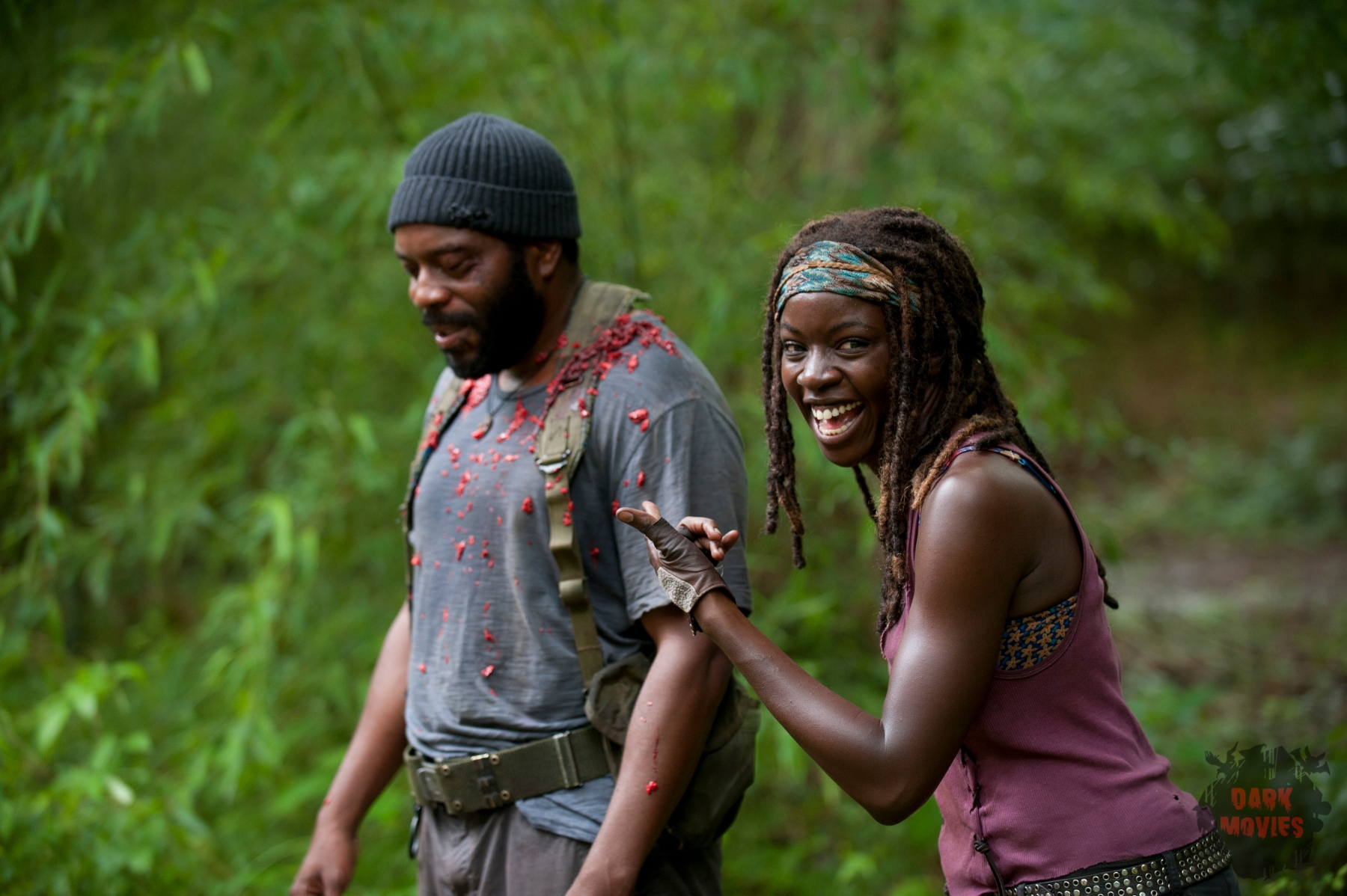 Tyreese (Chad Coleman) and Michonne (Danai Gurira) - The Walking Dead _ Season 4, Episode 3 - Photo Credit: Gene Page/AMC