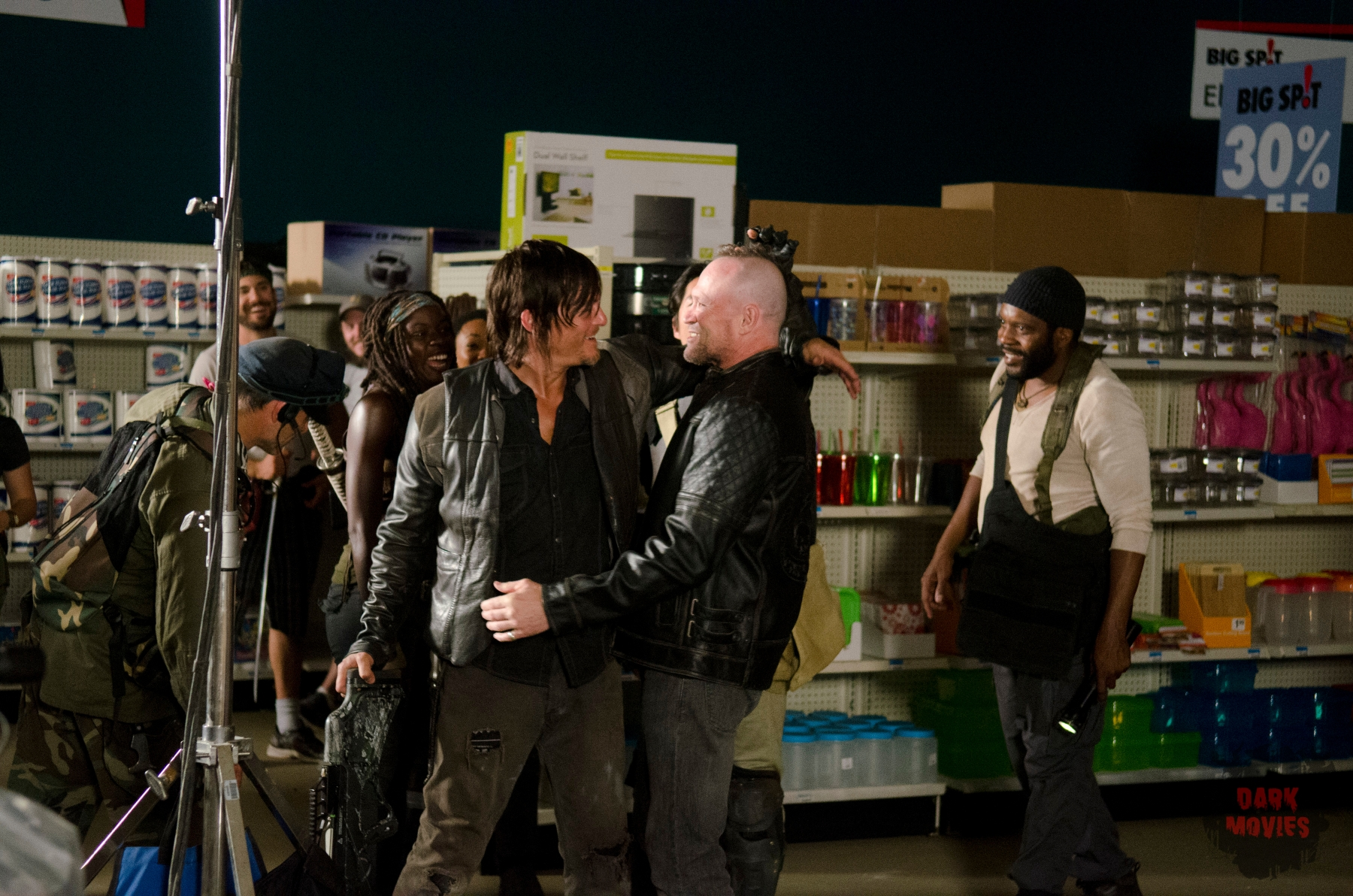 Daryl Dixon (Norman Reedus) and Michael Rooker - The Walking Dead _ Season 4, Episode 1 - Photo Credit: Gene Page/AMC