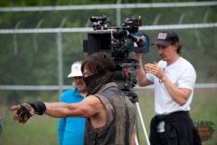 Daryl Dixon (Norman Reedus) - The Walking Dead _ Season 4, Episode 2 _ BTS - Photo Credit: Gene Page/AMC