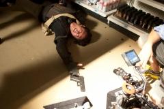 Glenn (Steven Yeun) and Walker - The Walking Dead _ Season 4, Episode 1 - Photo Credit: Gene Page/AMC
