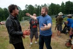 The Governor (David Morrissey) and Robert Kirkman - The Walking Dead _ Season 4, Episode 8 _ BTS - Photo Credit: Gene Page/AMC