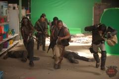 Michonne (Danai Gurira), Sasha (Sonequa Martin-Green), Daryl Dixon (Norman Reedus), Tyreese (Chad Coleman), Bob (Lawrence Gilliard Jr.) and Glenn (Steven Yeun) - The Walking Dead _ Season 4, Episode 1 - Photo Credit: Gene Page/AMC