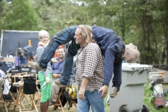 Greg Nicotero and Walker - The Walking Dead _ Season 4, Episode 14 _ BTS - Photo Credit: Gene Page/AMC