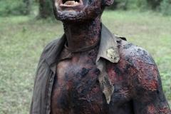 Burned walker - The Walking Dead _ Season 4, Episode 14 _ BTS - Photo Credit: Greg Nicotero/AMC