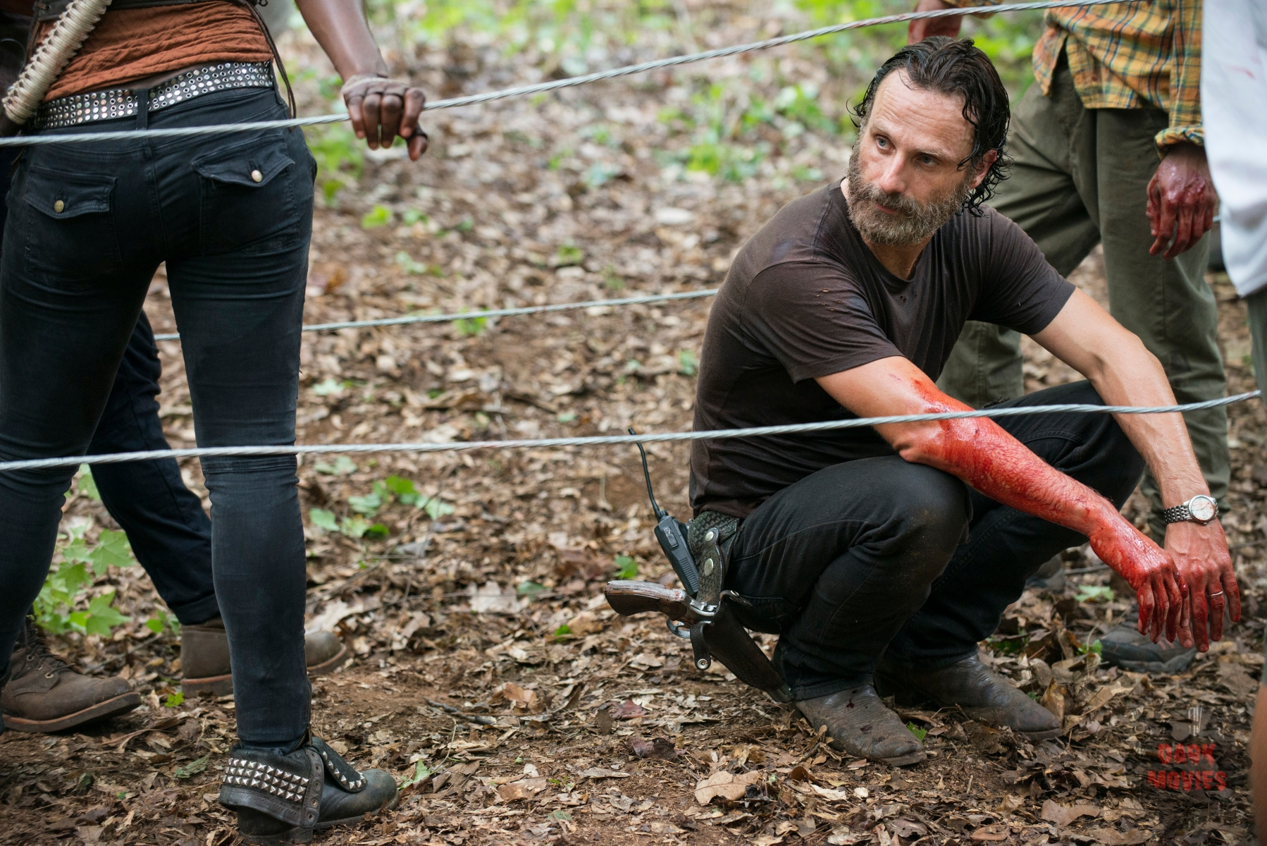 Andrew Lincoln - The Walking Dead _ Season 5, Episode 9 _ BTS - Photo Credit: Gene Page/AMC