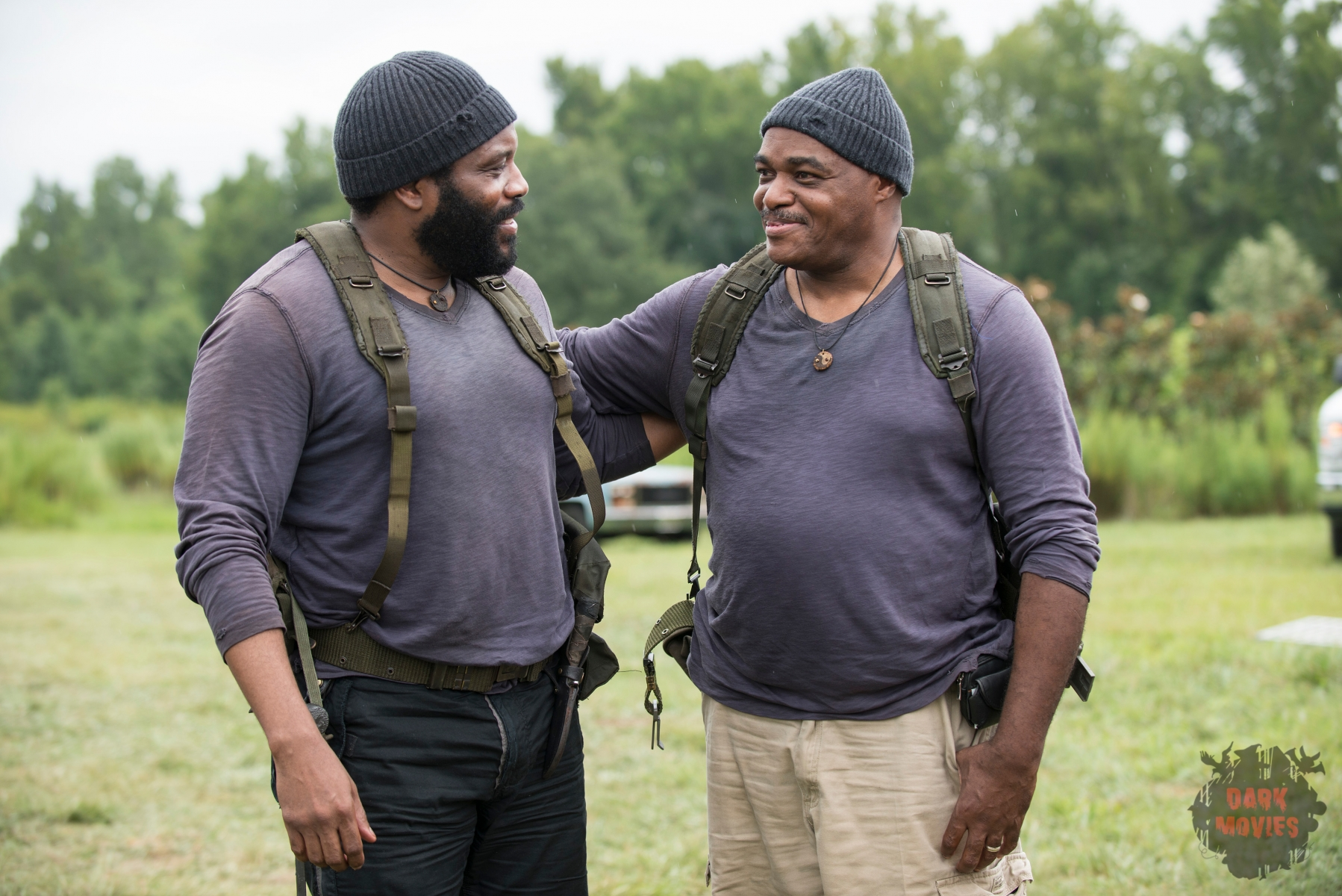 Chad Coleman - The Walking Dead _ Season 5, Episode 9 _ BTS - Photo Credit: Gene Page/AMC