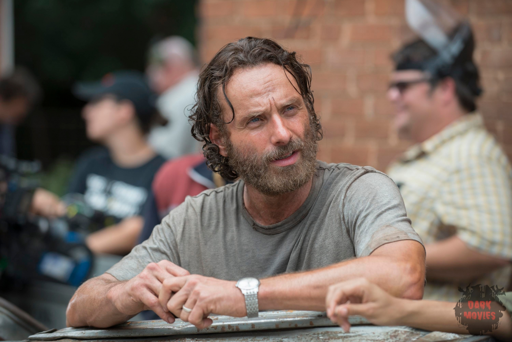 Andrew Lincoln - The Walking Dead _ Season 5, Episode 7 _ BTS - Photo Credit: Gene Page/AMC