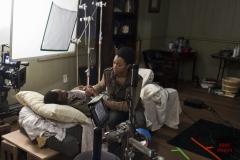 Lawrence Gilliard Jr. and Sonequa Martin-Green - The Walking Dead _ Season 5, Episode 3 _ BTS - Photo Credit: Gene Page/AMC