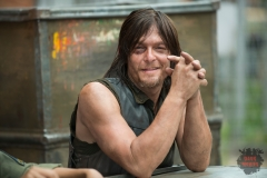 Norman Reedus - The Walking Dead _ Season 5, Episode 7 _ BTS - Photo Credit: Gene Page/AMC