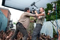 Steven Yeun as Glenn - The Walking Dead _ Season 6, Episode 3 _ BTS - Photo Credit: Gene Page/AMC