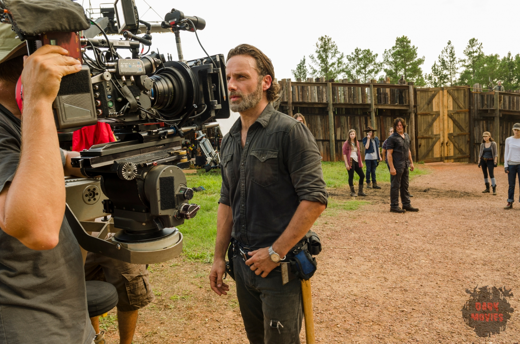 BTS, Andrew Lincoln as Rick Grimes - The Walking Dead _ Season 7, Episode 8 - Photo Credit: Gene Page/AMC