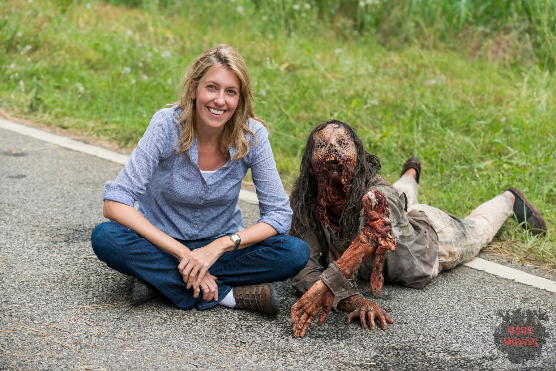 BTS, Co-Executive Producer Denise Huth - The Walking Dead _ Season 7, Episode 2 - Photo Credit: Gene Page/AMC