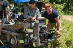 BTS, Michael Cudlitz as Sgt. Abraham Ford, Director of Photography Stephen Campbell- The Walking Dead _ Season 7, Episode 2 - Photo Credit: Gene Page/AMC