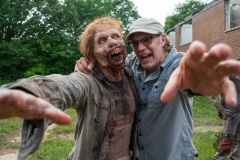 BTS, Executive Producer Greg Nicotero- The Walking Dead _ Season 7, Episode 2 - Photo Credit: Gene Page/AMC