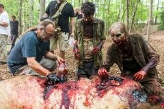 BTS, Executive Producer Greg Nicotero, Crew - The Walking Dead _ Season 8, Episode 6 - Photo Credit: Jackson Lee Davis/AMC