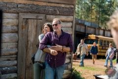 BTS, Lauren Cohan as Maggie Rhee, Executive Producer Greg Nicotero - The Walking Dead _ Season 8, Episode 16 - Photo Credit: Gene Page/AMC