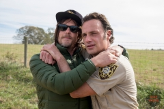 BTS, Norman Reedus as Daryl Dixon, Andrew Lincoln as Rick Grimes - The Walking Dead _ Season 8, Episode 16 - Photo Credit: Gene Page/AMC