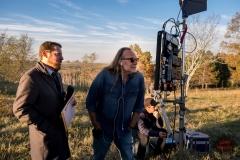 BTS, Executive Producer Scott M. Gimple, Executive Producer Greg Nicotero - The Walking Dead _ Season 8, Episode 16 - Photo Credit: Gene Page/AMC